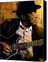 Legend Canvas Prints - John Lee Hooker Canvas Print by Paul Sachtleben