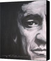 Johnny Cash Canvas Prints - Johnny Cash 2 Canvas Print by Eric Dee