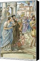 Brutus Canvas Prints - Julius Caesar (100 B.c-44 B.c.) Canvas Print by Granger