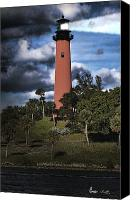 Stormy Canvas Prints - Jupiter lighthouse Canvas Print by Rudy Umans