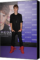 Appearance Canvas Prints - Justin Bieber At In-store Appearance Canvas Print by Everett