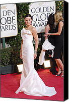 Golden Globe Canvas Prints - Kate Beckinsale Wearing A J. Mendel Canvas Print by Everett