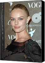 Black Tie Photo Canvas Prints - Kate Bosworth At Arrivals For The Art Canvas Print by Everett
