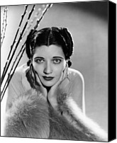 1930s Hairstyles Canvas Prints - Kay Francis, Ca. Mid-1930s Canvas Print by Everett