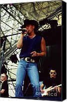 Kenny Canvas Prints - Kenny Chesney Canvas Print by Diane Kurtz