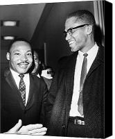 Malcolm X Canvas Prints - King And Malcolm X, 1964 Canvas Print by Granger