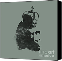 King Digital Art Canvas Prints - King Ape Canvas Print by Pixel Chimp