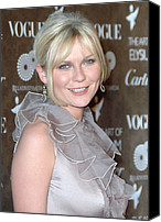 Black Tie Photo Canvas Prints - Kirsten Dunst Wearing A Valentino Gown Canvas Print by Everett
