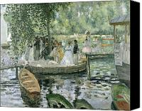 Rowing Canvas Prints - La Grenouillere Canvas Print by Pierre Auguste Renoir