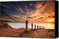 Long Canvas Prints - La Jolla Sunset 2 Canvas Print by Larry Marshall