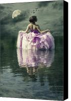 Elegant Canvas Prints - Lady In The Lake Canvas Print by Joana Kruse