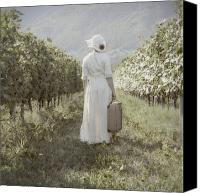 Case Canvas Prints - Lady In Vineyard Canvas Print by Joana Kruse