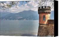 Lago Di Como Canvas Prints - Lago di Como Canvas Print by Joana Kruse
