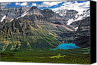 Continental Divide Canvas Prints - Lake OHara Canvas Print by Steve Harrington