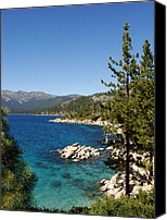 Village Canvas Prints - Lake Tahoe Shoreline Canvas Print by Scott McGuire