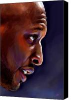 Los Angeles Lakers Canvas Prints - Lamar Canvas Print by Jack Perkins