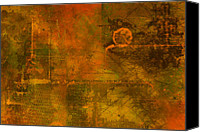 Distressed Canvas Prints - Landscape of Mars Canvas Print by Christopher Gaston