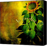 Le Jardin Canvas Prints - Le Jardin Canvas Print by Bonnie Bruno
