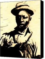 Blues Canvas Prints - Lead Belly Canvas Print by Jeff DOttavio