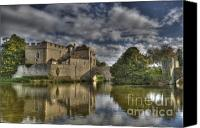 Moat Canvas Prints - Leeds Castle Reflections Canvas Print by Chris Thaxter