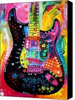Stevie Ray Vaughan Canvas Prints - Lenny Strat Canvas Print by Dean Russo