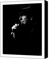 Leonard Cohen Canvas Prints - Leonard Cohen Canvas Print by Mathieu Roy