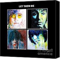 John Lennon Canvas Prints - Let Them Be Canvas Print by Paul Lovering