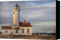 Point Wilson Lighthouse Canvas Prints - Lighthouse Canvas Print by Mike DeCesare