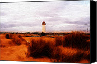 Seascape Pastels Canvas Prints - Lighthouse Canvas Print by Stefan Kuhn