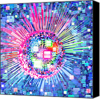 Cube Canvas Prints - Lighting Effects And Graphic Design Canvas Print by Setsiri Silapasuwanchai