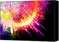 Electric Digital Art Canvas Prints - Lighting Explosion Canvas Print by Setsiri Silapasuwanchai