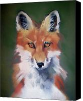 Fox Pastels Canvas Prints - Lil Rudy Canvas Print by Marika Evanson