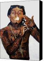 Wayne Canvas Prints - Lil Wayne  Canvas Print by Christopher  Chouinard