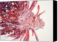 Lionfish Canvas Prints - Lionfish Canvas Print by Tanya L Haynes - Printscapes