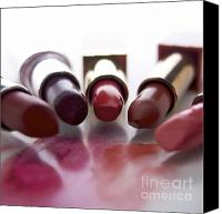 Make-up Canvas Prints - Lipsticks Canvas Print by Bernard Jaubert