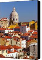 Capital City Canvas Prints - Lisbon View Canvas Print by Carlos Caetano