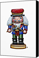 Seasonal Canvas Prints - Little Drummer Boy Canvas Print by Christina Meeusen