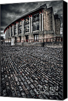 Cobbles Canvas Prints - LLoyds Building Canvas Print by Adrian Evans