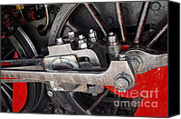 Old Wheel Canvas Prints - Locomotive Wheel Canvas Print by Carlos Caetano