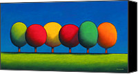 Featured Canvas Prints - Lollipop Trees Canvas Print by Christopher Jackson