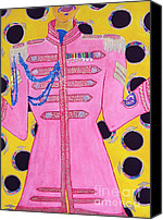 Starkey Painting Canvas Prints - Lonely Hearts Club Member Ringo Canvas Print by Barbara Nolan