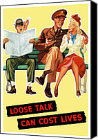 War Effort Canvas Prints - Loose Talk Can Cost Lives Canvas Print by War Is Hell Store