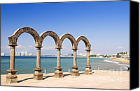 Pacific Canvas Prints - Los Arcos Amphitheater in Puerto Vallarta Canvas Print by Elena Elisseeva