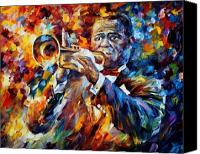 Afremov Canvas Prints - Louis Armstrong Canvas Print by Leonid Afremov