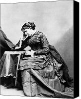 May Canvas Prints - Louisa May Alcott (1832-1888) Canvas Print by Granger