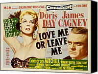 1955 Movies Canvas Prints - Love Me Or Leave Me, Poster Art, Doris Canvas Print by Everett
