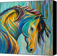 Pony Painting Canvas Prints - Loyal One Canvas Print by Theresa Paden