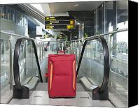 Airport Concourse Canvas Prints - Luggage at the Top of an Escalator Canvas Print by Jaak Nilson