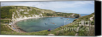 2012 Digital Art Canvas Prints - Lulworth Cove Dorset Canvas Print by Donald Davis