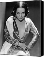 Satin Dress Canvas Prints - Lupe Velez, Ca. Early 1930s Canvas Print by Everett